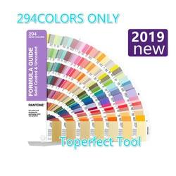 2019 nueva tarjeta de Color PANTONE estándar internacional añadido 294 Color C tarjeta U GP1601A-SUPL de tarjeta