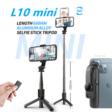 Bluetooth Selfie Stick  Mini Portable Foldable Tripod Monopod l and Vertical Selfie Stick with Wireless Remote Control
