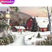MomoArt Diamond Painting Christmas Mosaic Winter Embroidery Full Square/round Cross Stitch Cartoon Gift