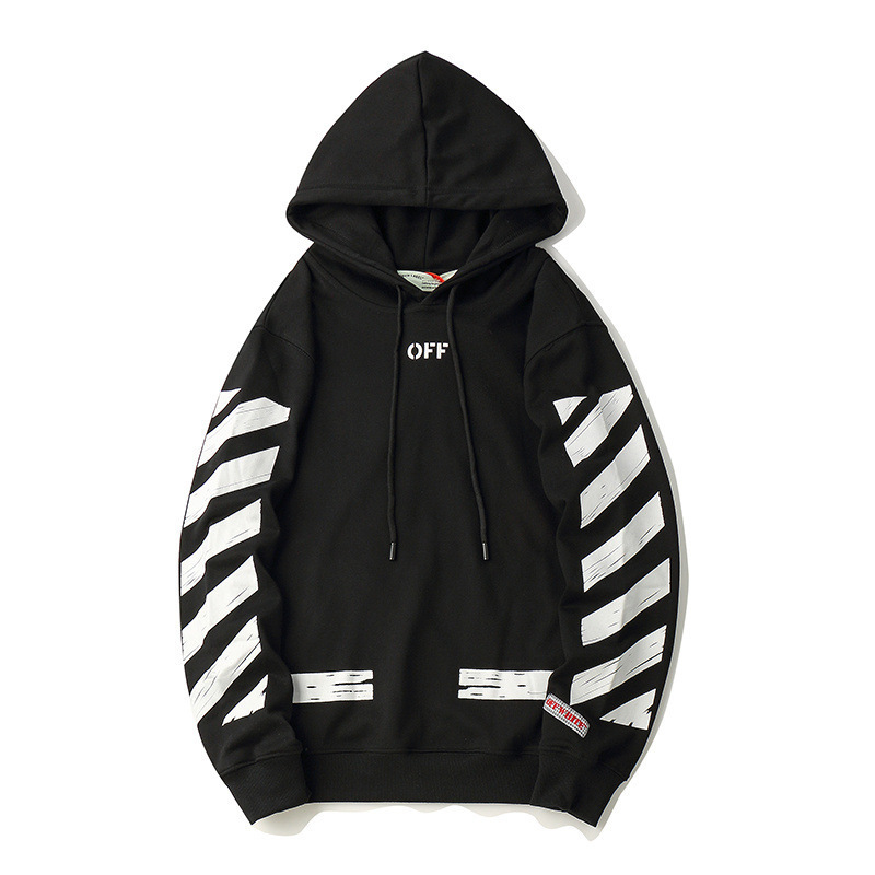 18ss European And American Streets Off Hoodie Ow Popular Brand Men And Women Couples Thin Loose-Fit Hoodie Coat Fashion