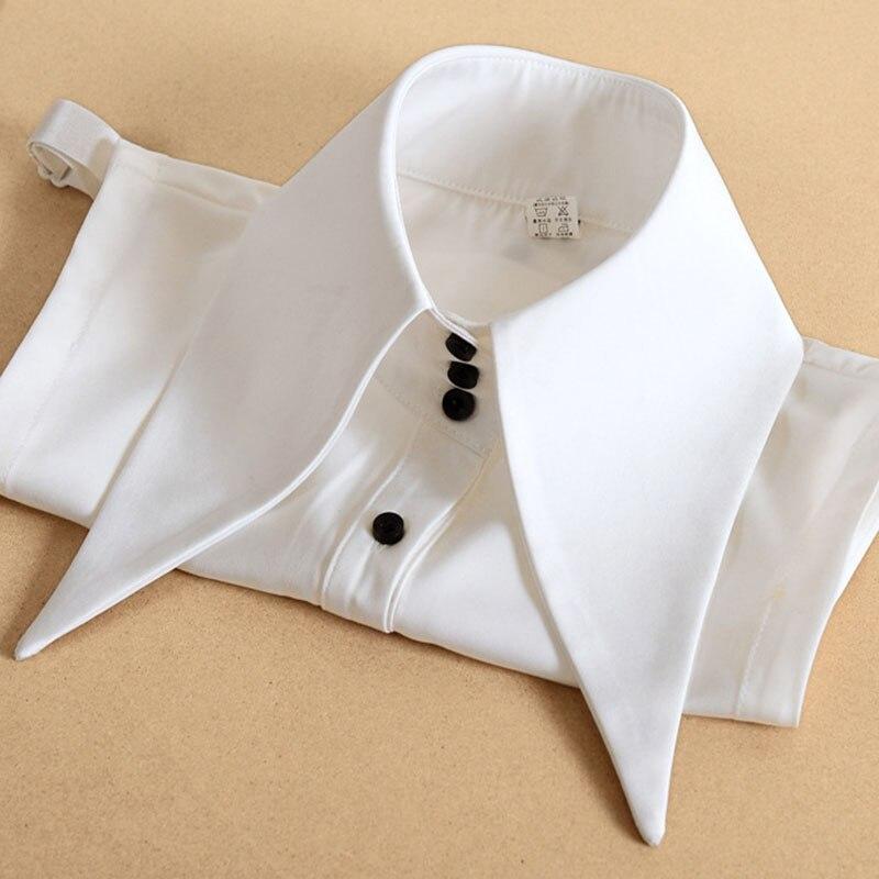 Big Lapel Vintage White Fake Collar Women Detachable Collar False Collar Woman Female Removable Dickie Half Shirt Women Faux Col