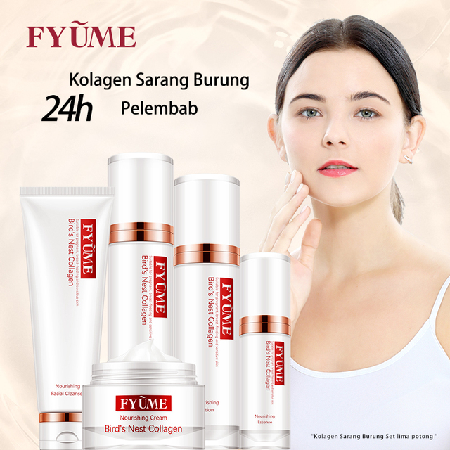 FYUME Maternity Bird's Nest Collagen Skin care products for pregnant women during lactation Cleanser+Toner+Lotion+Essence+Cream 1