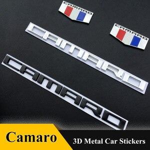 Insignia adhesiva de metal 3D para coche Chevrolet Camaro emblema de capó delantero Chevy ZL1 pegatina para maletero patrón de bandera de coche Stying