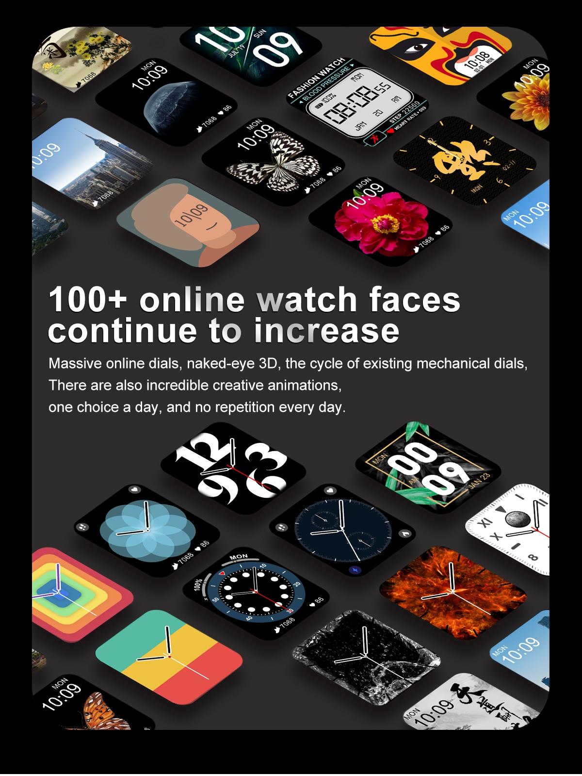 H54a3112549f745549aa02f019bc6a2c2q DT100 pro Smart Watch Bluetooth Call Custom Dynamic Watch Face IP68 Waterproof Smartwatch Men Women for Apple Watch Iwo W26