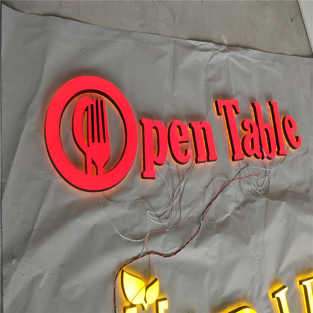 Factory Outlet  Super High Brightness Custom Made Small Led Lettering Signs, Acrylic Led Outdoor Store Name Signages