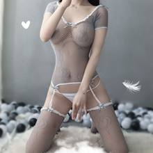 Sexy Lingerie Erotic Sex clothes exotic Dew Erotic Sexy Open Jacquard Fishnet Clothes Temptation Body Stocking exotic Body socks