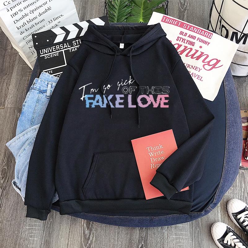 K-pop Bangtan Boys Fake Love Jungkook Hoodie Sweatshirt Hip Hop High Quality Clothing Collection  R&B, EDM Unisex Sweatshirt