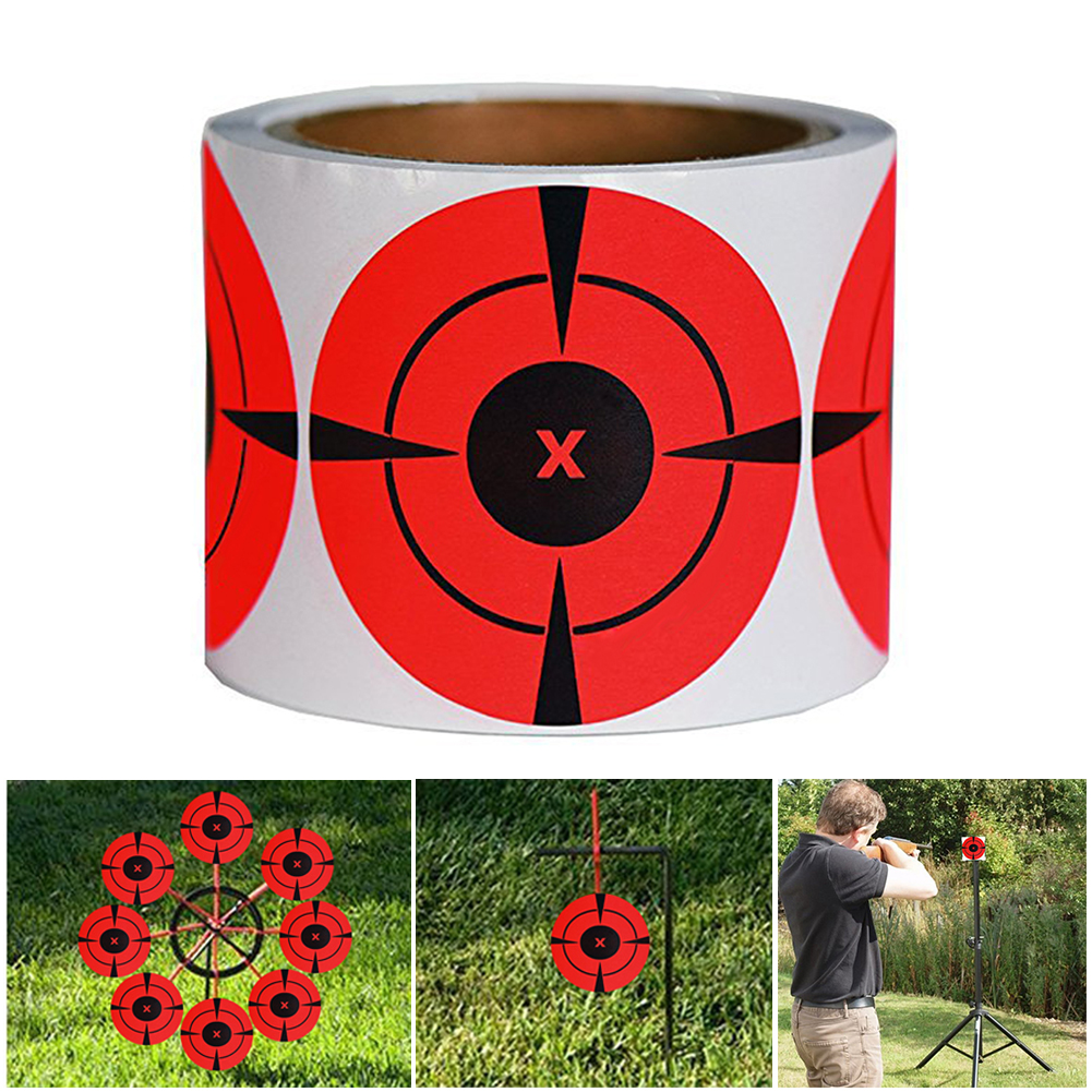 125Pcs/Roll 7.5 Cm Splatter Target Shooting Exercises Stickers Set For Outdoor And Indoor Sport