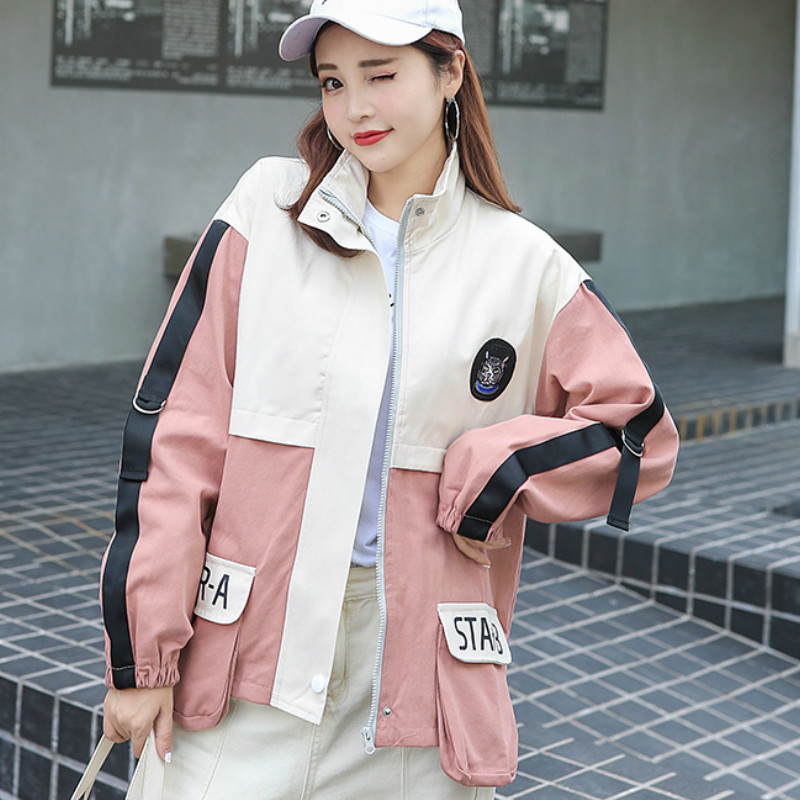 Milinsus New Korean Loose Baseball Jacket Autumn Winter Coat Women 2019 Pocket Windbreaker Japanese Streetwear Safari Style