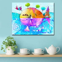Cartoon Fish Canvas Poster Nurser Quotes Print Wall Art Painting Nordic Kids Decoration Picture Baby Bedroom Decor no frame