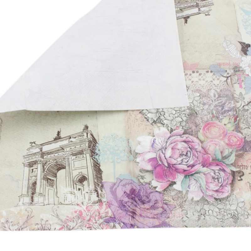 20 Pcs/lot 33 Cm * 33 Cm Gambar Fitur Rose Serbet Kertas untuk Acara dan Pesta Dekorasi Jaringan Decoupage Servilleta