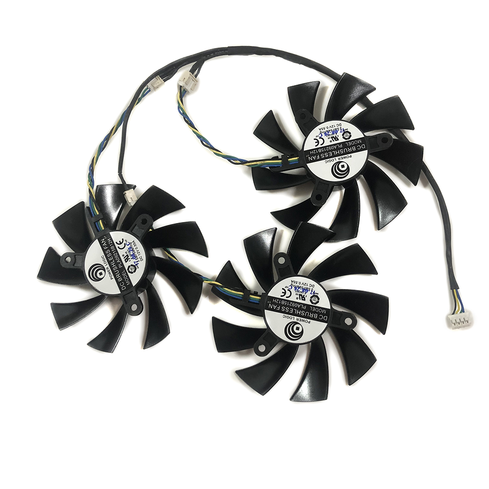 3Pcs/set AXRX <font><b>VEGA</b></font> <font><b>56</b></font>/64 GPU VGA <font><b>Cooler</b></font> Graphics Card Fan For PowerColor RX-<font><b>VEGA</b></font> Video Card Cooling As Replacement image