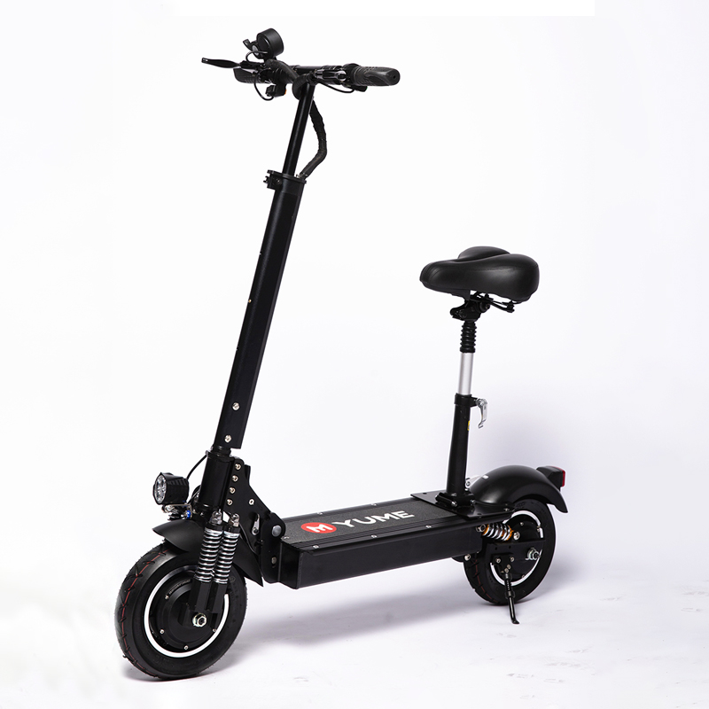 YUME YM-D4+ 23.4Ah 52V <font><b>1000W</b></font>*2 Dual Motor Folding <font><b>Electric</b></font> <font><b>Scooter</b></font> 10inches Double Brake System Max Load 200kg EU Plug E-<font><b>Scooter</b></font> image