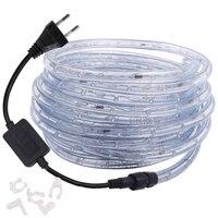 360 Neon Streifen Led Regenbogen Runde Rohr Licht 220V 110V AC RGB LED Seil Lichter Band Wasserdichte Flexible streifen Im Freien Dekoration