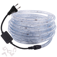 Flexible Strip Rope-Light Ribbon Outdoor-Decoration Rainbow Round Waterproof 110V 220V