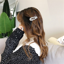 South Korea Amber High-grade Acetic Acid Duckbill Clip Wave Point Control Must Buy Trendy Ocean Side Clips Simple Fashion Card