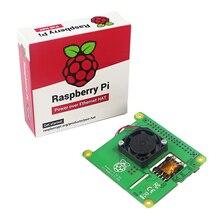 Новейшая Raspberry Pi PoE HAT надстройка с контролируемым температурой вентилятором для Raspberry Pi 4 Модель B /3B +
