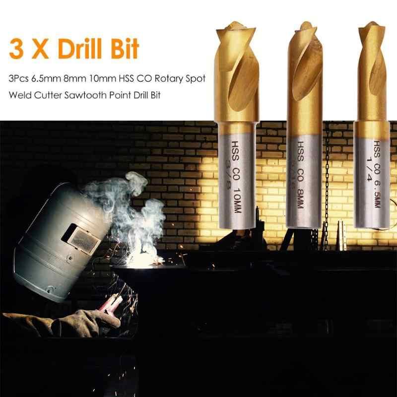 3pcs HSS Spot Weld Cutter Remover Point Drill Bits Hex Sheet Metal Hole Cutter
