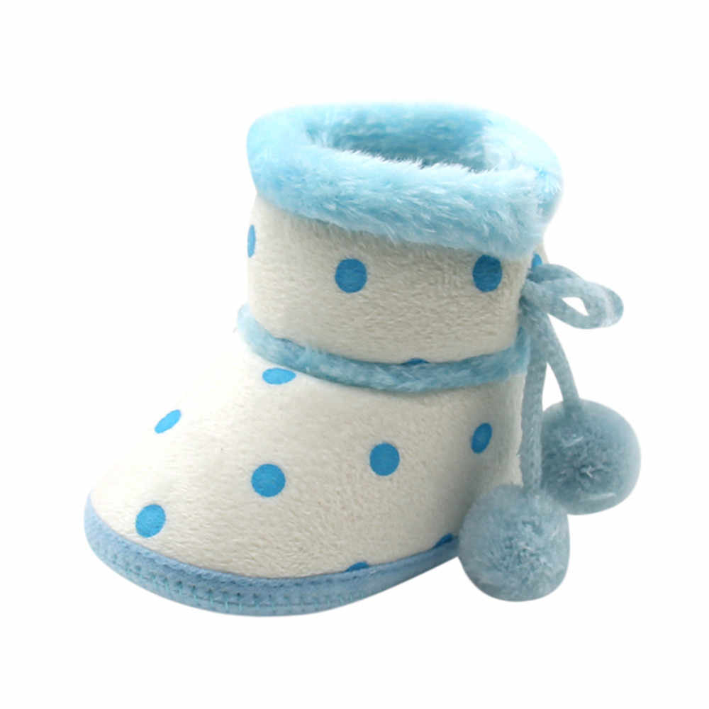 Botas de inverno do bebê meninas meninos macio botas de neve infantil da criança recém-nascidos sapatos de aquecimento bonito botas de princesa botas