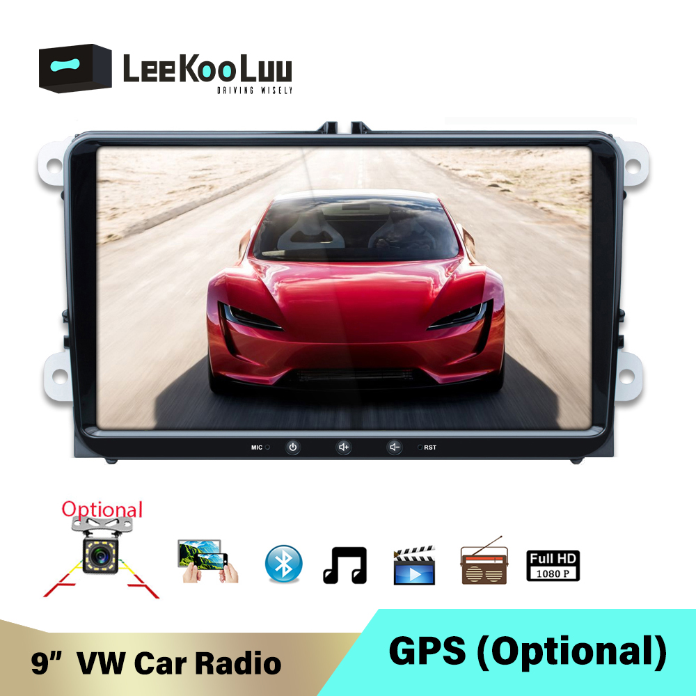 LeeKooLuu 2 Din <font><b>Android</b></font> Car Radio No DVD for VW/Volkswagen/Golf/Polo/Passat/b7/b6/SEAT/leon/Skoda <font><b>2Din</b></font> <font><b>Autoradio</b></font> GPS Optional image