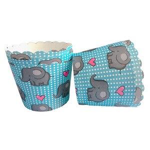 LINVIERLOVE 50 шт. милый слон Кекс лайнер для торта бумага для выпечки чашки Маффин ящики торт форма маленькая коробка для пирожных чашка Декор под...
