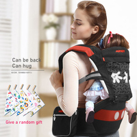 Disney Ergonomic Baby Carrier Infant Baby Hipseat Waist Carrier Front Facing Ergonomic Kangaroo Sling for Baby Travel 0 36M