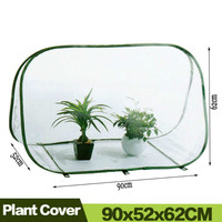 AULAYSED PVC Pop up Outdoor Garden Plant Protective Cover Warm Greenhouse 90x52x62cm Transparent Bird Pest Control Warm