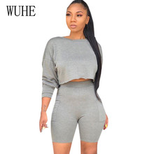 WUHE Autumn Women Two Pieces Sets Long Sleeve O-neck Casual Vintage Jumpsuits Femme Elegant Hollow Out Leisure Playsuits Mono wuhe women fashion o neck short sleeve long swing top and slim pants summer casual two pieces sets playsuits combinaison femme