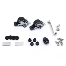 2pcs Swivel Caster Wheels Rubber Base with Top Plate Bearing Heavy Duty Desks Coffee Tables WWO66