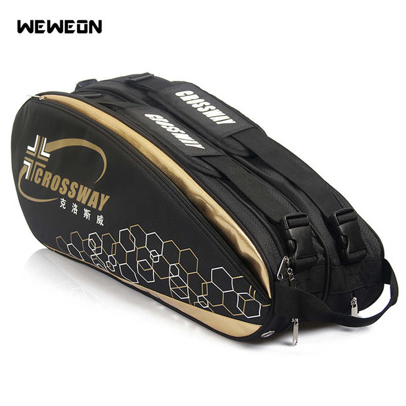 6-12 pcs Large Racket Tennis Bag 2019 Badminton Bag/Accessories Professional Racquet Sports Bag Racket for Shoes Stroage