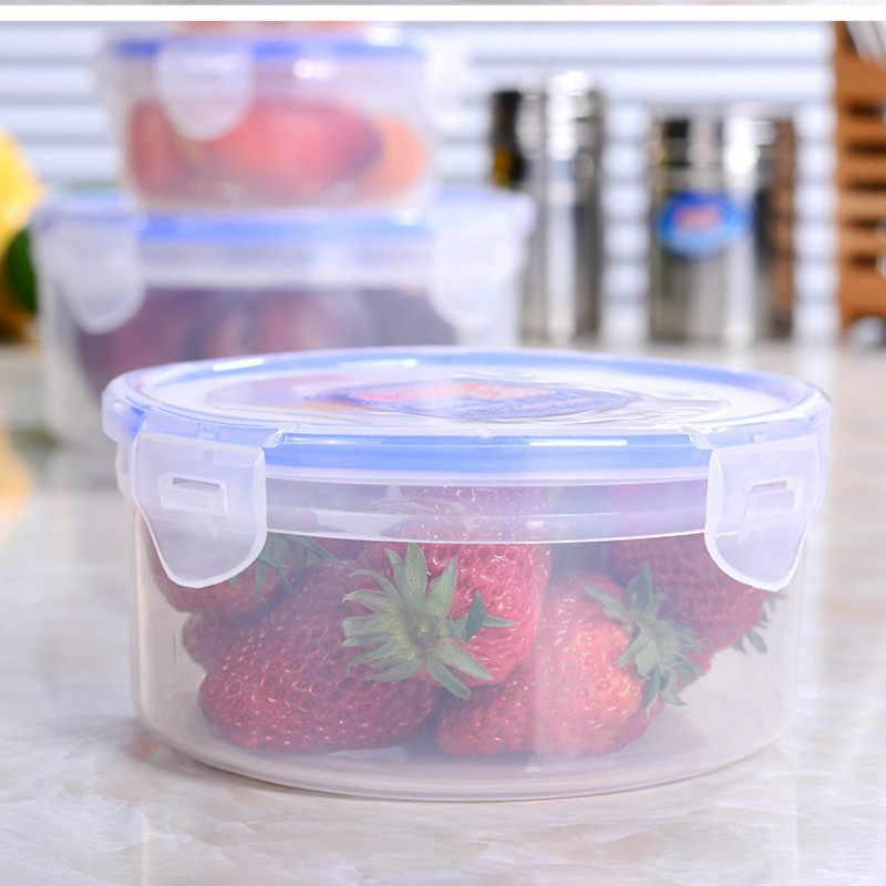 Caixa de plástico transparente caixa almoço retangular selada escritório trabalhador geladeira doméstico caixa de alimentos lm5221709py