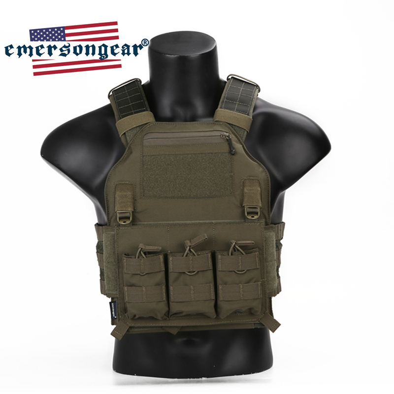 Emersongear EMERSON Tactical Vest 420 Plate Carrier Molle Body Armor Swat Vest Harness Airsoft Military CS Protective Gear Range