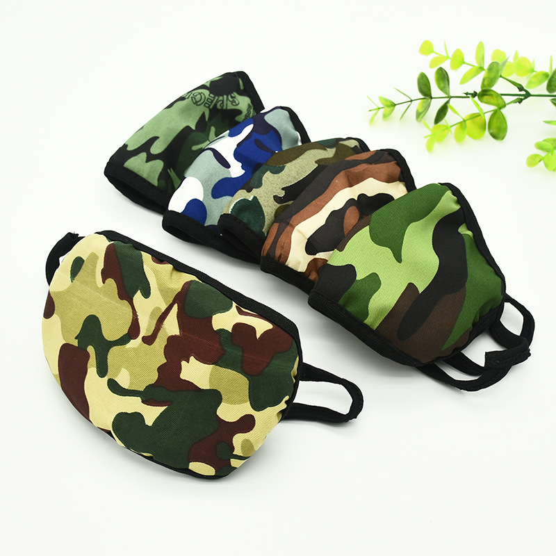 Soft Unisex Anti Dust Windproof Dustproof Camouflage Mouth Mask Mouth-muffle