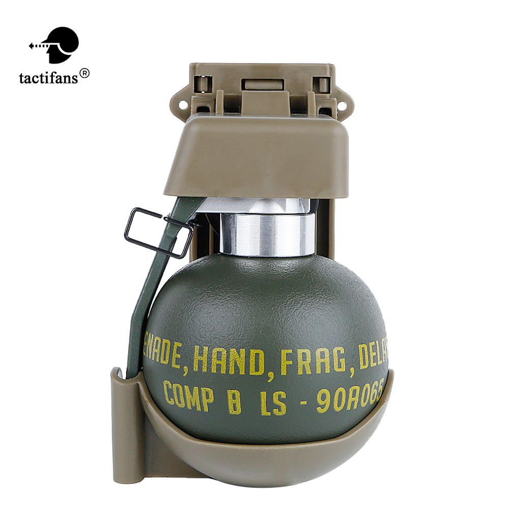 Tactical M67 Model Set BB Holder Storage Container Molle Clip Dummy Grenade Plastic Costume Military Airsoft Paintball Shooting