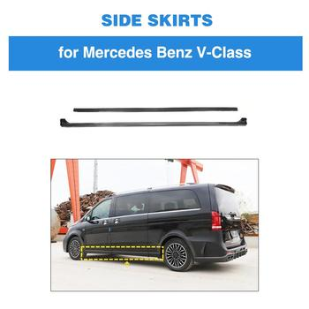 Carbon Fiber Door Extension Lip Aprons Bottom Fender Side Skirts For Mercedes-Benz V Class V250 V220d 2015 2016 2017 2018 2019 image