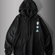 Tide marca de moda masculina de rua japonesa camisola masculina bordado pulôver hoodie manga comprida homem um tamanho modelo LT-21.99