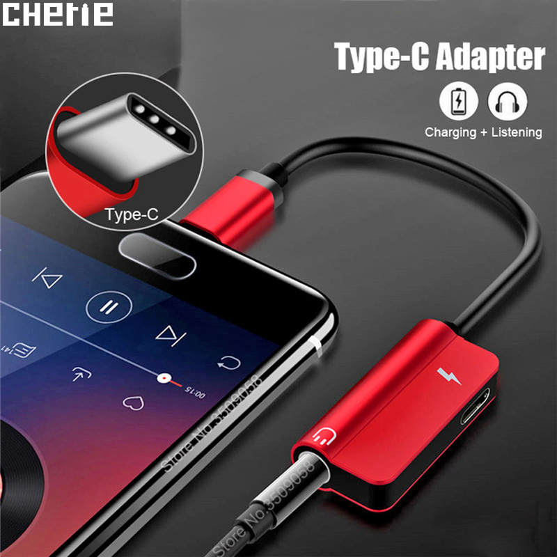 Cherie Headphone Type C 3.5mm Aux Adapter Charger For Oneplus 7 Pro Huawei Xiaomi  3.5 Jack Dongle Audio Splitter Cable Charging