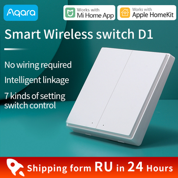 Aqara Smart Wireless Switch D1/ Wall Switch D1 ZigBee Connection Work with Aqara Hub Gateway Xiaomi Mi Home APP Remote control