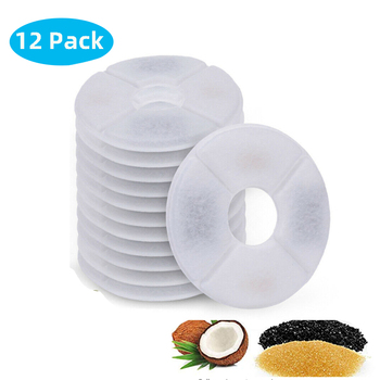 Replaced Activated Carbon Filter For Cat Water Drinking Fountain Replacement Filters Flower For Pet Dog Round Fountain Dispenser 10