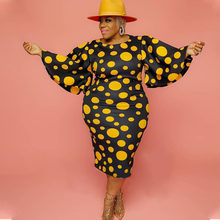 Осеннее платье размера плюс для женщин повседневные платья в