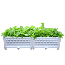 80 X 40 X 22cm Square Plastic Combined Seedling Vegetable Planter Box Soilless Plant Growing Kit Balcony Supplies-2 Couplet