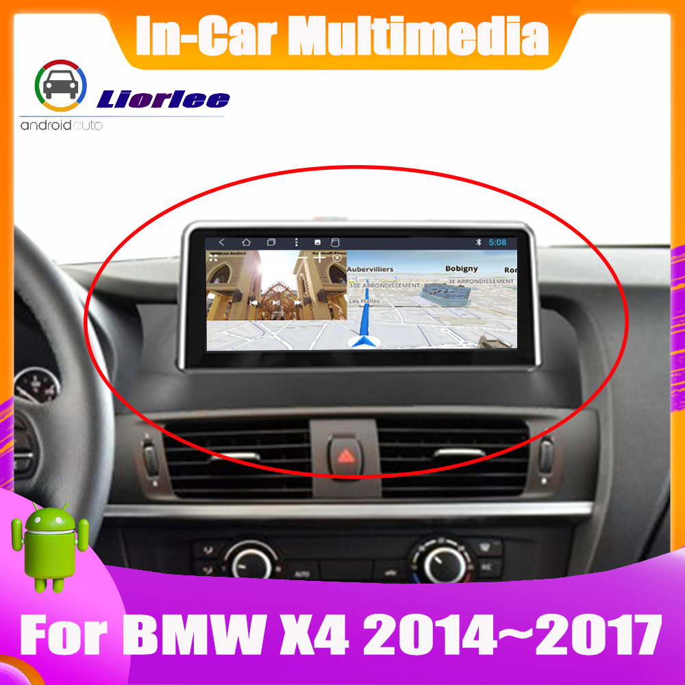 10.25 Inch Android system Car GPS Navigation For <font><b>BMW</b></font> <font><b>X4</b></font> F26 2014~2017 Radio Audio Video HD Touch Screen image