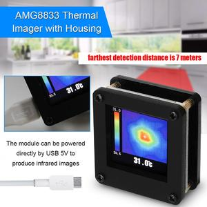 AMG8833 IR 8*8 Portable Infrared Thermal Imager Array Temperature Sensor 7M Farthest Detection Distance with Housing