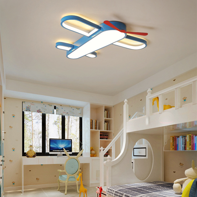 Dimmable Kids Led Ceiling Lights Aircraft Lampa Sufitowa for Children Boys Creative Modern Child Hanging Ceiling Lamp Airplane image