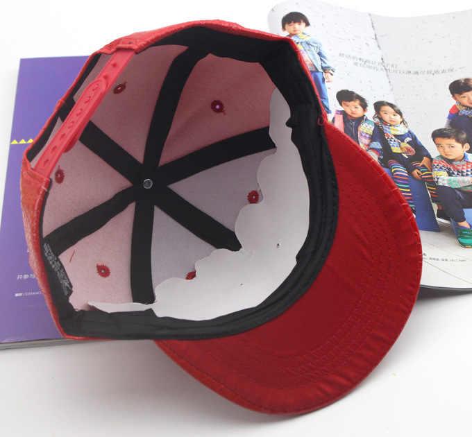 SQTEIO Bambini della protezione di snapback di cuoio artificiale Protezioni Del Fumetto di autunno della molla del ragazzo del cappello di hip hop nuovo