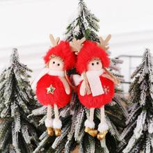 Xmas Cute Plush Angel Doll Decor Pendant Tree Ornament Feather Angel Love Originality Hanger for Hom