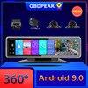 OBDPEAK 4 Cameras 4G Android 9.0 Car Dash Cam GPS Navigation HD 720P Video Recorder Dashboard DVR WiFi App Remote Monitoring