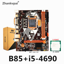 B85 LGA1150 Motherboard set mit Intel Core i5-4690CPU Haupt Frequenz 3,50 GHz Desktop Speicher USB 3,0 VGA DVI
