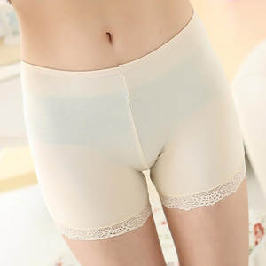 Short Leggings Pants Under-Skirt Active High-Waist Women Ladies Lace Stretch Bottoming