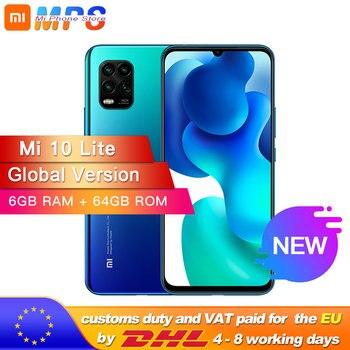 Купить Глобальная версия смартфона xiaomi mi Note 10 Lite, 64 ГБ, 6 ГБ, Восьмиядерный процессор Snapdragon 730G, 64mp четыре камера, 5260 мАч, AMOLED экран 6,47 дюйма